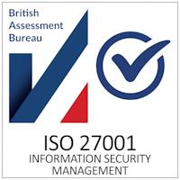 british assessment bureau information security management ISO 27001 badge